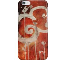 Ampersand in Red : v.01 iPhone Case/Skin