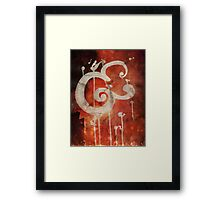 Ampersand in Red : v.01 Framed Print