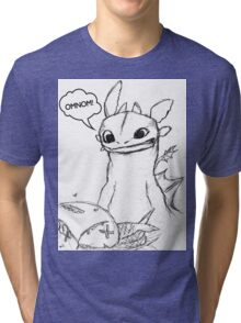 How To Train Your Dragon - Toothless Sketch Style Shirt Tri-blend T-Shirt