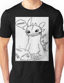 How To Train Your Dragon - Toothless Sketch Style Shirt Unisex T-Shirt
