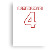 NFL Player Jacob Dombrowski four 4 Metal Print