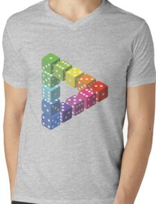 Triangle Impossible Dés Mens V-Neck T-Shirt