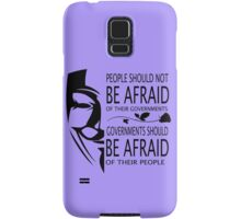 Governments Be Afraid Samsung Galaxy Case/Skin