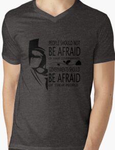 Governments Be Afraid Mens V-Neck T-Shirt