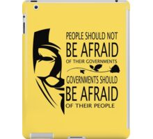 Governments Be Afraid iPad Case/Skin