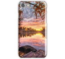 Birches on Mirror Pond iPhone Case/Skin