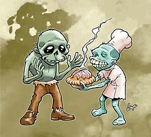 Zombies Share Pie 2 by wolfehanson