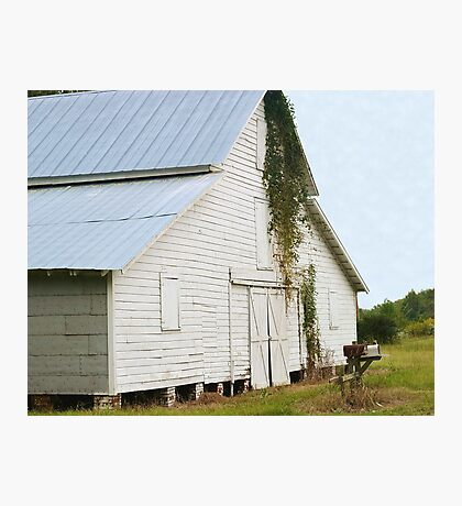 Blue Roof Barn Photographic Print
