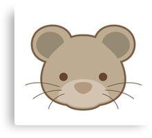 Cute mouse portrait cartoon Canvas Print