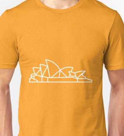 Flat Icon - Sydney Opera House White Unisex T-Shirt