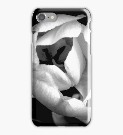 Black and White Tulip iPhone Case/Skin