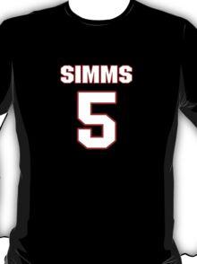 NFL Player Matt Simms five 5 T-Shirt