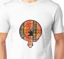 Fraser Motto (Black Detailed and Lined on Book Tartan) Unisex T-Shirt