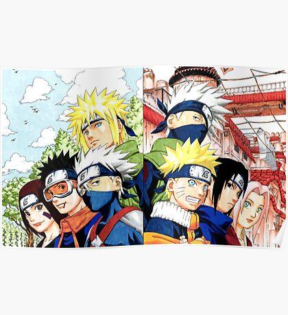 Rin&Obito&Minato&Kakashi&Naruto&Sasuke&Sakura Poster