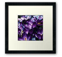 Dark Purple Flowers Framed Print