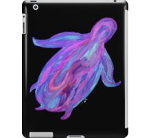 Sea Turtle in Tranquil Liquid Flowing Colors (Turquoises, Purples, Pinks, Blues) on Black Background iPad Case/Skin