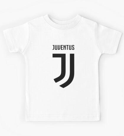 juventus new logo black Kids Tee