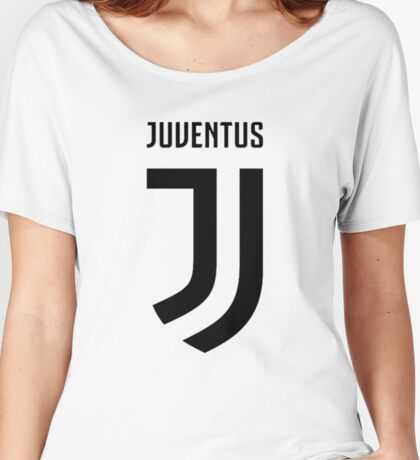 juventus new logo black Women's Relaxed Fit T-Shirt