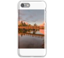 Foot Bridge with Pink Clouds iPhone Case/Skin