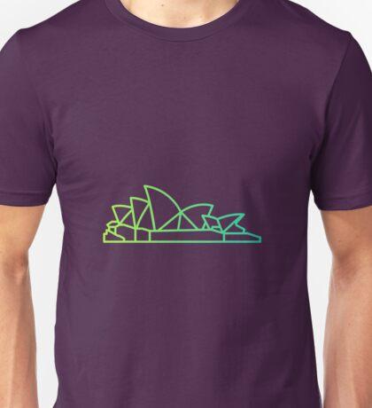 Flat Icon - Sydney Opera House Gradient Unisex T-Shirt