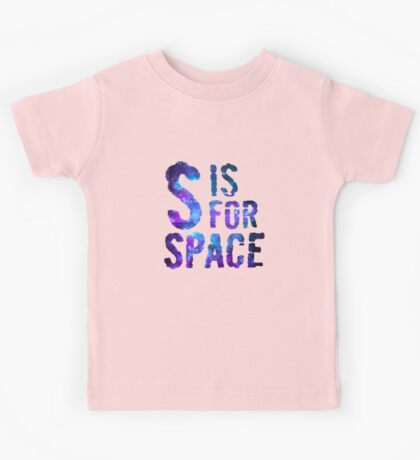 S is for Space KIDS Kids Tee