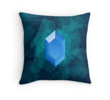 Blue Rupee Throw Pillow