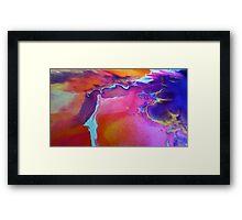 Sunset Sherbet Framed Print