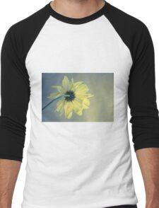 Pensive Daisy (Yellow) Men's Baseball ¾ T-Shirt
