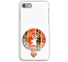 Fraser Motto (White Lined on Book Tartan) iPhone Case/Skin