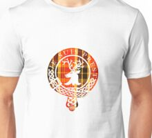 Fraser Motto (White on Book Tartan) Unisex T-Shirt
