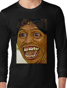 Happy Zombie with Great Teeth! Long Sleeve T-Shirt