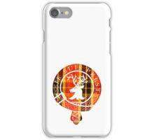 Fraser Motto (White Detailed on Book Tartan) iPhone Case/Skin