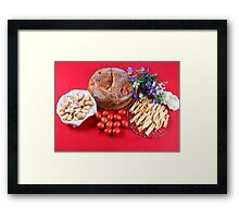 Greek Easter Eggs With Food Framed Print