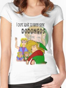 Bombing Dodongos (Black Text) Women's Fitted Scoop T-Shirt