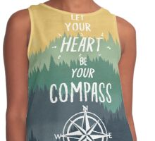 Let Your Heart Be Your Compass Contrast Tank