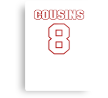NFL Player Kirk Cousins eight 8 Metal Print
