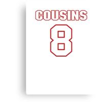 NFL Player Kirk Cousins eight 8 Canvas Print