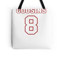 NFL Player Kirk Cousins eight 8 Tote Bag