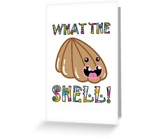 Cute Pets & Pugs T-Shirt: What the Shell! Funny Seashell Greeting Card