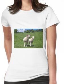 Lambs In Summertime 4 Womens Fitted T-Shirt