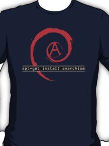 apt-get install anarchism  T-Shirt