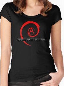 apt-get install anarchism  Women's Fitted Scoop T-Shirt