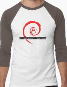 apt-get install anarchism  Men's Baseball ¾ T-Shirt