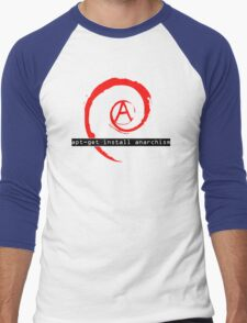 apt-get install anarchism  Men's Baseball ¾ T-Shirt