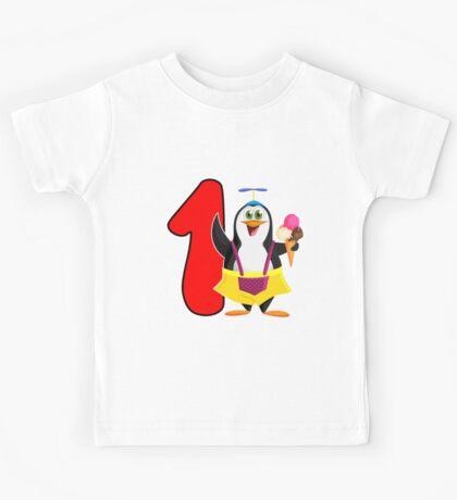 1st Birthday Penguin Kids Tee