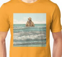 Fisherman in for a dip Unisex T-Shirt