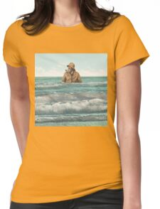 Fisherman in for a dip Womens Fitted T-Shirt