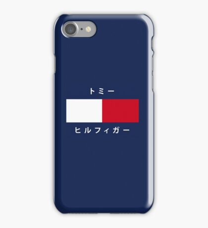 Japanese Tommy Hilfiger iPhone Case/Skin