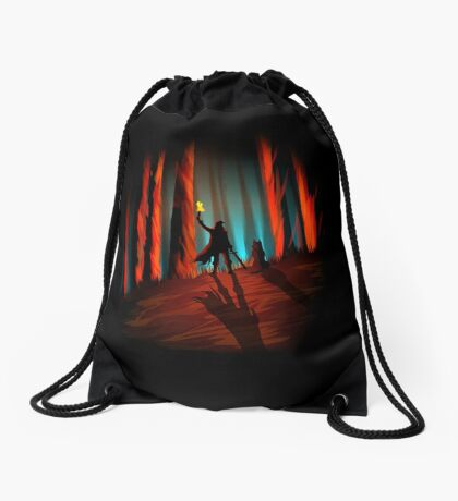 A Walk in the Woods Drawstring Bag