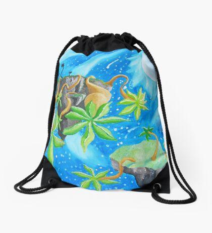 Flying Ilands Drawstring Bag